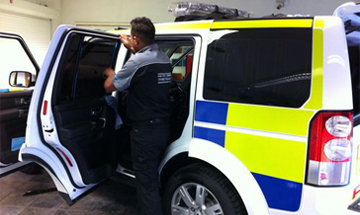 Police LandRover  window tinting