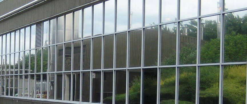 Commercial building Windows Tinted