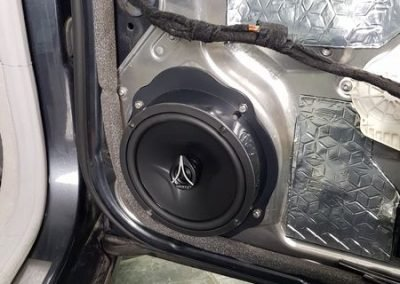 Skins Soundproofing & Hertz Car Speaker