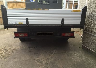 reverse numberplate camera tipper