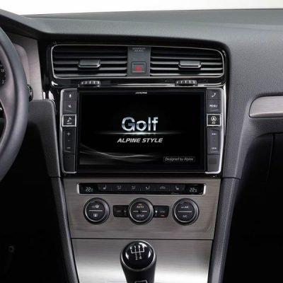 Alpine Vw Golf MK7 headunit upgrade car audio upgrade best nottingham derby