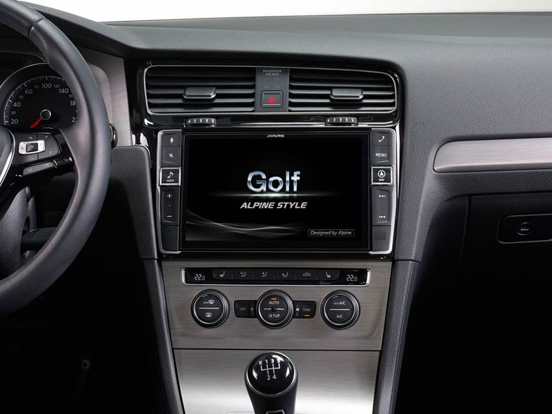Alpine Vw Golf MK7 headunit upgrade car audio upgrade best nottingham derby