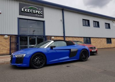 Audi R8 in for additional security