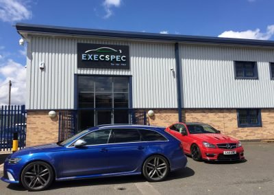 Audi RS6 & Mercedes C63 in for additional security